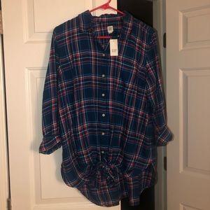 Gap maternity flannel